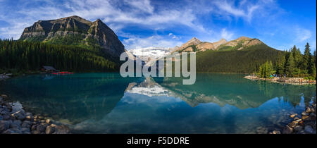Lake Louise in Banff National Park, Alberta, Canada. - Stock Photo