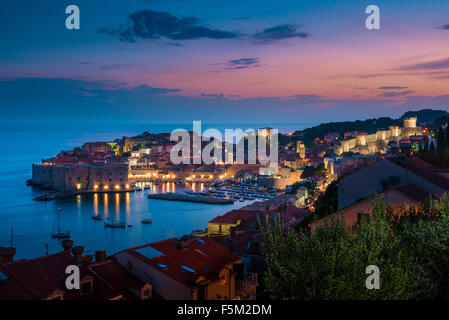 Dubrovnik at Night - Stock Photo