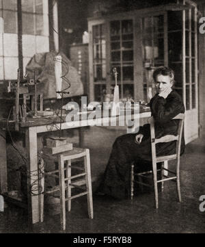 Marie Skłodowska Curie,  1867 - 1934.  Polish and naturalized-French physicist and chemist who conducted pioneering - Stock Photo