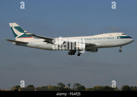 cathay pacific cargo 747 freighter 747 400f - Stock Photo