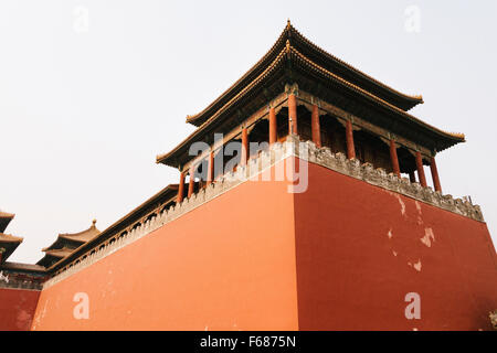Beijing, China - The view of Wumen, the front gate of Forbidden City. - Stockfoto