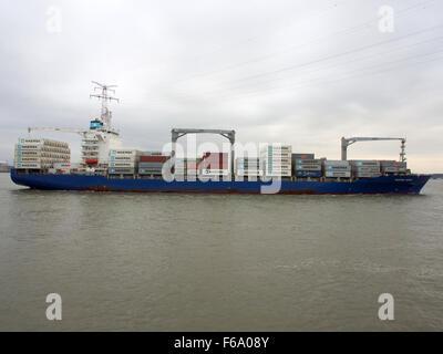 Maersk Nimes - IMO 9434931, Port of Antwerp - Stock Photo