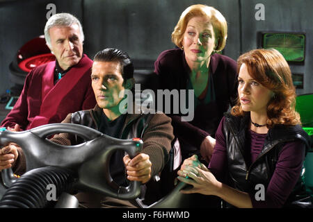 Jul 23, 2002; Hollywood, CA, USA; (L-R) RICARDO MONTALBAN, ANTONIO BANDERAS, HOLLAND TAYLOR and CARLA GUGINO star - Stock Photo