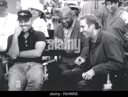 Jul 23, 2002; Hollywood, CA, USA; Director DOMINIC SENA, actor DELROY LINDO and actor NICOLAS CAGES on the set of - Stock Photo