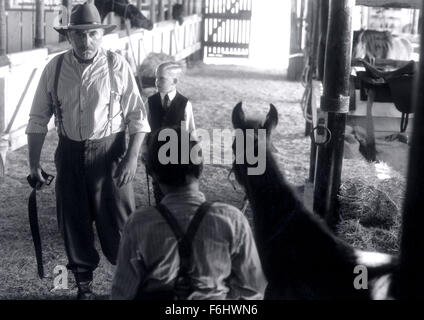 Jul 23, 2002; Hollywood, CA, USA; Actor JAN DECLEIR as Boss Man, NICHOLAS TRUEB as his son confront CHASE MOORE - Stock Photo