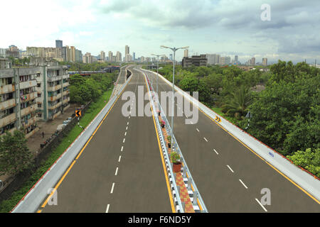 Eastern freeway flyover, mumbai, maharashtra, india, asia - Stock Photo