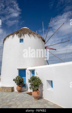 Windmills, Mykonos, Greece, Tuesday, September 22, 2015. - Stock Photo