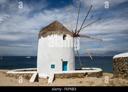 Windmills, Mykonos, Greece, Tuesday, September 22, 2015. - Stock Photo