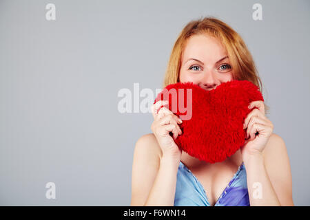 woman waiting for Valentine's Day - Stock Photo