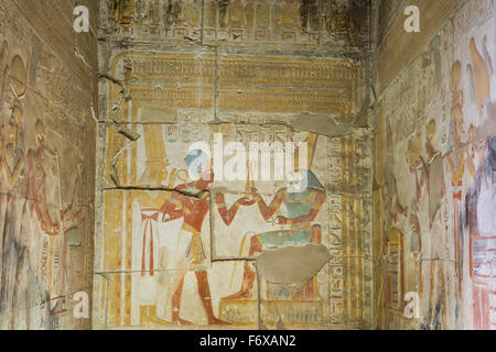 Temple of Seti I; Abydos, Egypt - Stock Photo