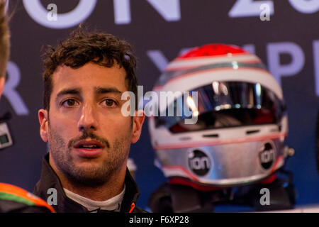 London, UK. 21st Nov, 2015. Three-time Formula 1 grand prix winner Daniel Ricciardo of Australia during ROC Driver - Stock Photo