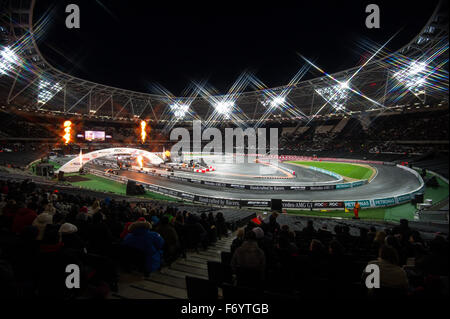 London, UK. 21st November, 2015. General view of the stadium during the Race Of Champions at The Stadium at Queen - Stock Photo