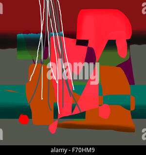 Abstract painting, india, asia - Stock Photo
