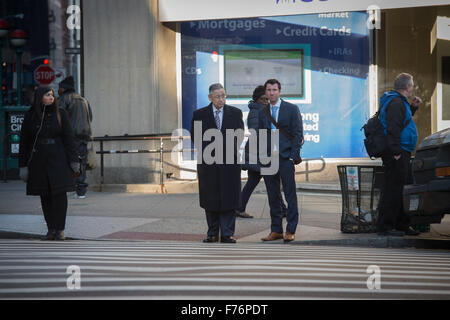 New York, NY, USA. 25th Nov, 2015. New York State Assemblyman SHELDON SILVER arrives to Federal District Court in - Stock Photo