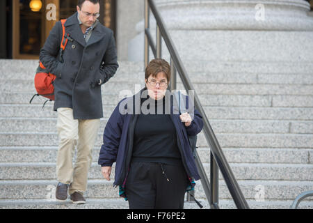 New York, NY, USA. 25th Nov, 2015. Judge VALERIE CAPRONI exits Federal District Court in Manhattan, Wednesday Nov. - Stock Photo
