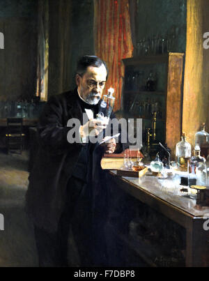 France FrenchLouis Pasteur 1885 Albert Edelfelt  1854 - 1905 Finland  France French ( Louis Pasteur 1822 – 1895 - Stockfoto