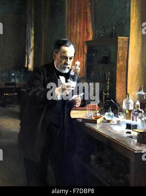 France FrenchLouis Pasteur 1885 Albert Edelfelt  1854 - 1905 Finland  France French  ( Louis Pasteur 1822 – 1895 - Stock Photo