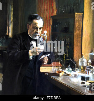 Louis Pasteur 1885 Albert Edelfelt  1854 - 1905 Finland  France French ( Louis Pasteur 1822 – 1895  French chemist - Stockfoto