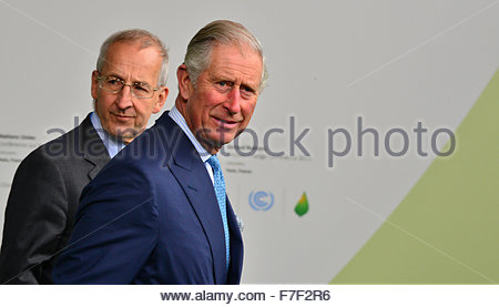 Le Bourget, France. novembre 30th, 2015. FRANCE, Le Bourget : Britain's Prince Charles arrives at the opening of - Stock Photo