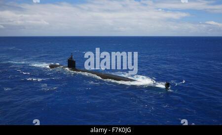 Nuclear submarine, Oahu, Hawaii - Stock Photo