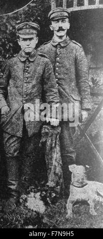 Adolf Hitler (German Chancellor and Nazi leader) during his military service in World War One 1915 - Stock Photo