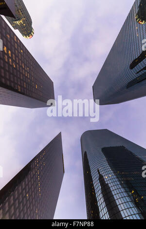 Skyscrapers from below, Los Angeles - Stock Photo