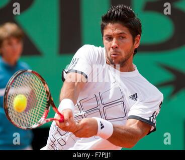29-5-09, France, Paris, Tennis, Roland Garros, Fernando Verdasco - Stock Photo