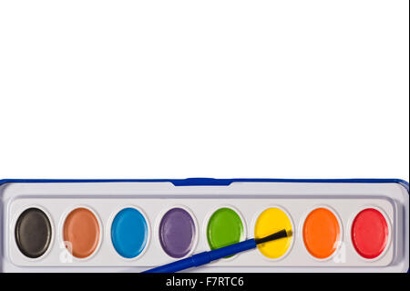 Children's Paint Set With Copy Space - Stock Photo