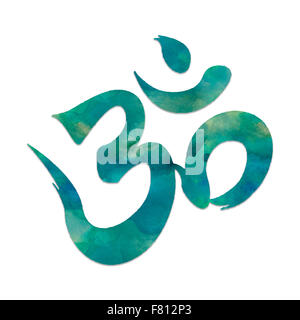 Image of the mantra symbol, OHM, used in meditation and yoga. - Stock Photo