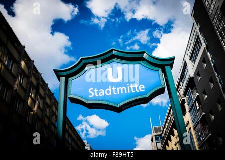 Subway station Stadtmitte, Berlin, Germany - Stock Photo