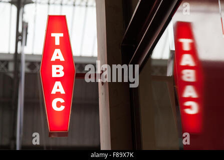 tabac shop sign france stock photo 19190301 alamy. Black Bedroom Furniture Sets. Home Design Ideas