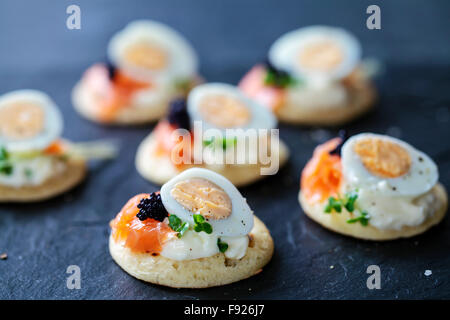 Canape with egg stock photo royalty free image 57004216 for Canape with caviar