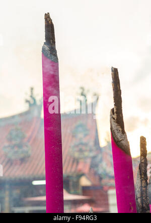 Giant Incense Sticks In A Temple, Penang Island, George Town, Malaysia - Stockfoto