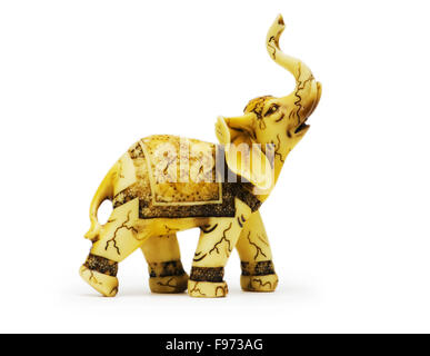 Elephant toy isolated on the white background - Stock Photo