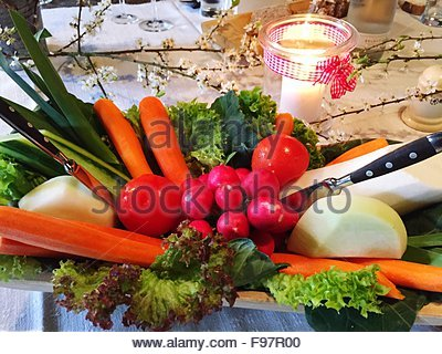 Fresh Vegetables On Plate - Stock Photo