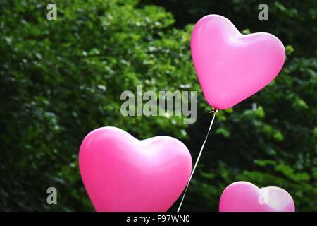 Heart Shaped Balloons - Stockfoto