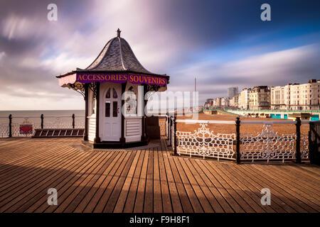 Brighton Pier, Brighton, Sussex, UK - Stock Photo