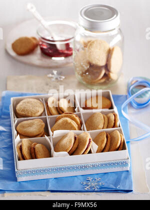 Cinnamon Sandwich Cookies - Stockfoto