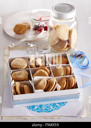 Cinnamon Sandwich Cookies - Stock Photo