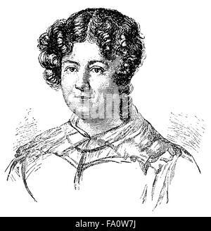 Marianne von Willemer or Marianne Jung, 1784-1860, an Austrian actress and dancer, - Stock Photo