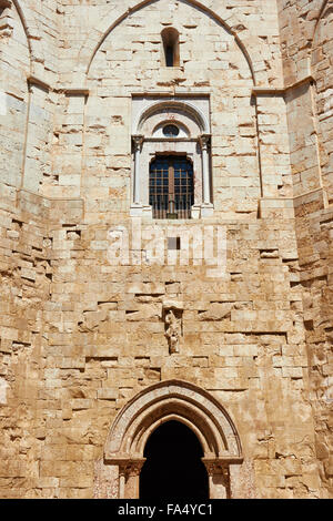 Courtyard at Castel Del Monte Andria Apulia Puglia Italy Europe - Stock Photo