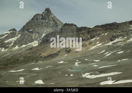 Das Matterhorn, der Italiana Seitenansicht oben Cervina, Italien - Stockfoto