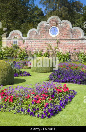 Erddig hall gardens wrexham wales uk an avenue of for Victorian garden trees