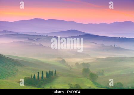 San Quirico D'Orcia, Tuscany landscape, Italy - Stock Photo