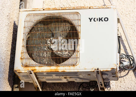 Wall Mounted External Air Conditioning Units Stock Photo