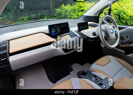 bmw i3 electric car interior usa stock photo royalty free image 88068507 alamy. Black Bedroom Furniture Sets. Home Design Ideas
