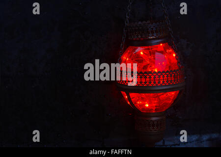 red oriental lamp - Stock Photo