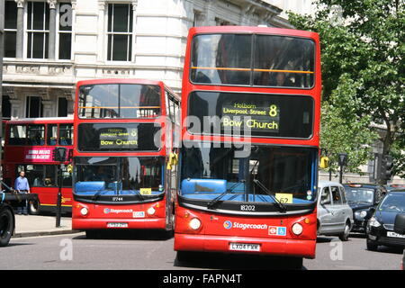 Tfl Red London Buses Stock Photo Royalty Free Image