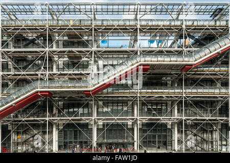 The Centre Georges Pompidou building in central Paris. - Stock Photo