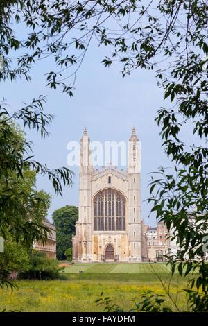 King's College Chapel, part of Cambridge University in England, UK - Stock Photo
